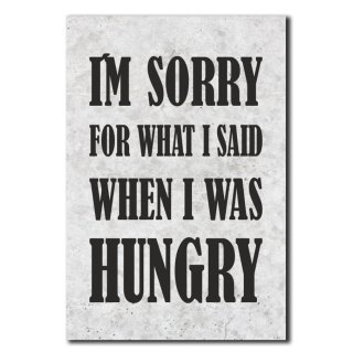 I´m sorry for what i said when i was hungry Deko Schild Wandschild