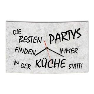 LAUTLOSE Designer Wanduhr Die besten Partys finden immer in der K&uum