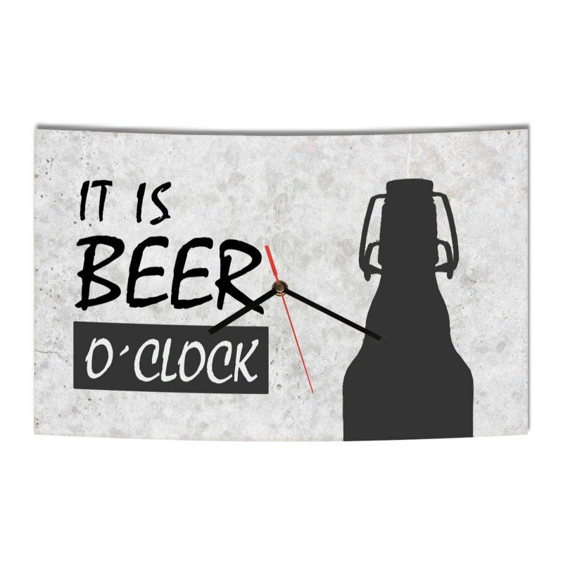 lautlose designer wanduhr it is beer o clock modern. Black Bedroom Furniture Sets. Home Design Ideas