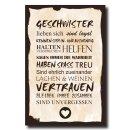 Holzschild Dekoschild Geschwister mit Spruch 20x30cm...