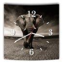 LAUTLOSE Designer Wanduhr mit Spruch Afrika Elefant...