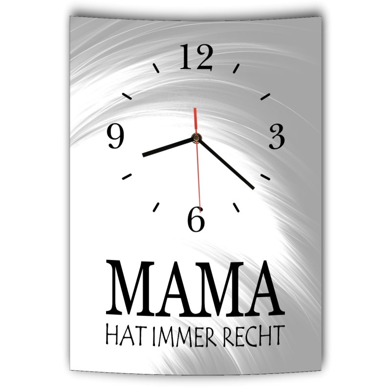 Leinwandbild mit Spruch Mama hat immer Recht
