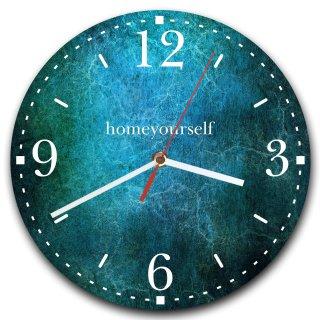 LAUTLOSE runde Wanduhr Blau Struktur aus Metall Alu-Verbund lautlos Uhrwerk rund modern Dekoschild Bild 30 x 30cm