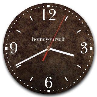 LAUTLOSE runde Wanduhr Braun Struktur aus Metall Alu-Verbund lautlos Uhrwerk rund modern Dekoschild Bild 30 x 30cm