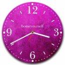 LAUTLOSE runde Wanduhr Violett lila modern aus Metall...