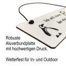 Metallschild Herzlich Willkommen 25 x 8 cm aus Alu Verbund (Alu, Kunststoff) für In- und Outdoor Deko Schild Dekoschild Wandschild außen und innen