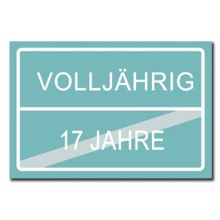 Hochwertiges Metallschild 30 x 20 cm aus Alu Verbund Geburtstag 18 Jahre Volljährig Ortsschild Straßenschild Junge Ortsschild blau Deko Schild Wandschild
