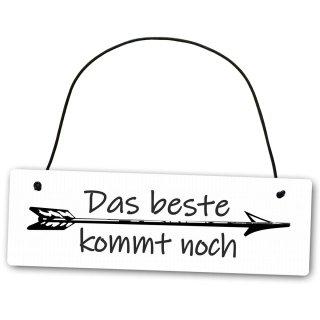 Homeyourself Hochwertiges Schild 25 x 8 cm Bitte Nicht f/üttern wei/ß Dekoschild Wandschild K/äfig Tiere Gehege
