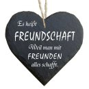 Herz Schieferherz Schiefer Schieferschild 10 x 10 cm Es...
