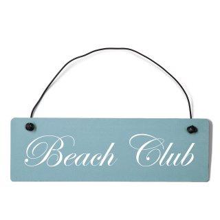 Beach Club Dekoschild Türschild