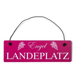 Engel Landeplatz Dekoschild Türschild