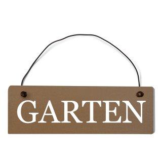 Garten Dekoschild Türschild