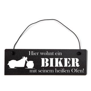 Hier wohnt ein Biker mit seinem heißen Ofen Dekosc...