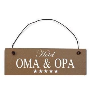 Hotel Oma & Opa Dekoschild Türschild