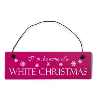 I´m dreaming of a white christmas Dekoschild Türsc...