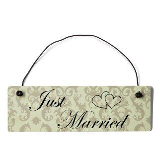 Just Married Dekoschild Türschild