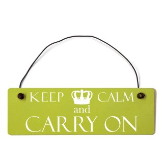 Keep Calm and Carry on Dekoschild Türschild