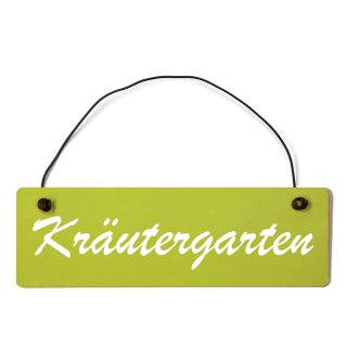 Kräutergarten Dekoschild Türschild