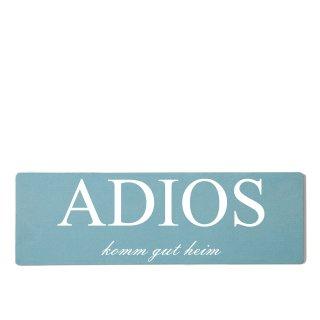 Adios Dekoschild Türschild gelb zum kleben