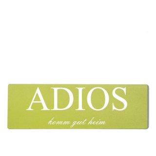 Adios Dekoschild Türschild grün zum kleben