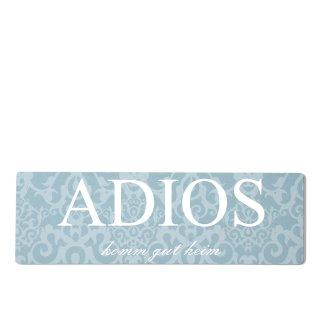 Adios Dekoschild Türschild blau zum kleben