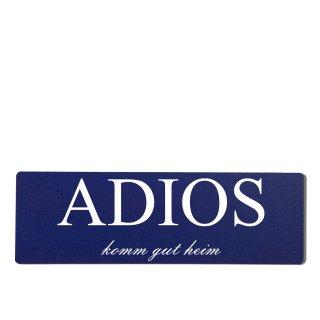 Adios Dekoschild Türschild hellblau zum kleben
