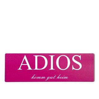 Adios Dekoschild Türschild pink zum kleben
