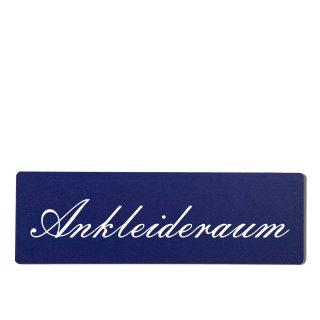 Ankleideraum Dekoschild Türschild hellblau zum kleben