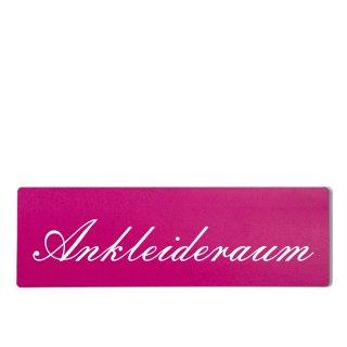 Ankleideraum Dekoschild Türschild pink zum kleben