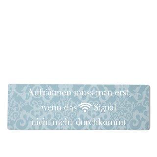 Aufräumen WLAN Dekoschild Türschild blau zum kleben