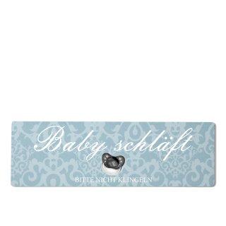 Baby schläft Dekoschild Türschild blau zum kleben