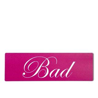 Bad Dekoschild Türschild pink zum kleben