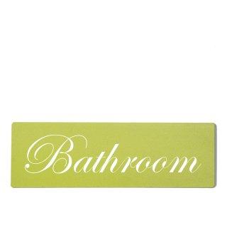 Bathroom Dekoschild Türschild grün zum kleben