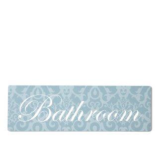 Bathroom Dekoschild Türschild blau zum kleben