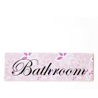 Bathroom Dekoschild Türschild rosa zum kleben