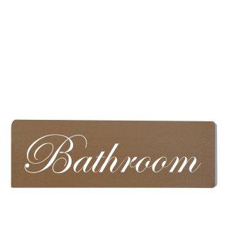 Bathroom Dekoschild Türschild braun zum kleben