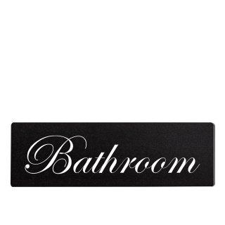 Bathroom Dekoschild Türschild schwarz zum kleben