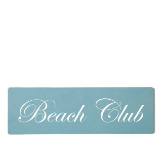 Beach Club Dekoschild Türschild gelb zum kleben