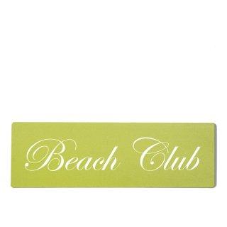 Beach Club Dekoschild Türschild grün zum kleben