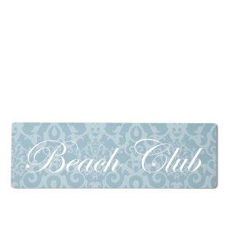 Beach Club Dekoschild Türschild blau zum kleben