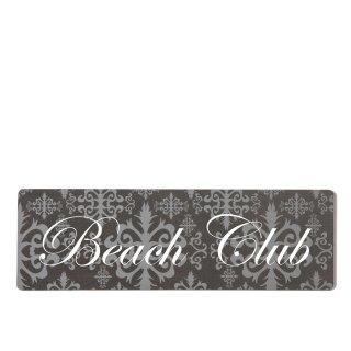 Beach Club Dekoschild Türschild lila zum kleben