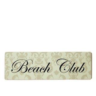 Beach Club Dekoschild Türschild beige zum kleben
