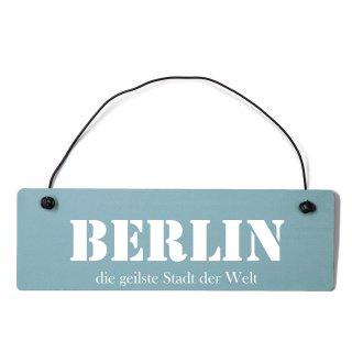 Berlin Dekoschild Türschild gelb mit Draht