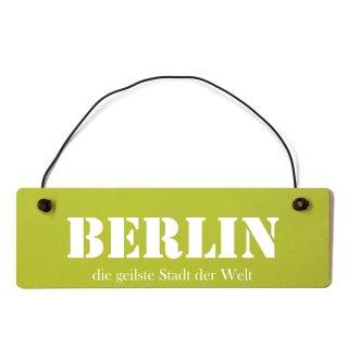 Berlin Dekoschild Türschild grün mit Draht