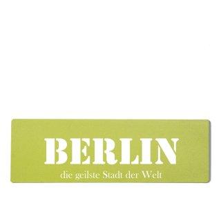 Berlin Dekoschild Türschild grün zum kleben