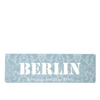 Berlin Dekoschild Türschild blau zum kleben