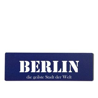 Berlin Dekoschild Türschild hellblau zum kleben