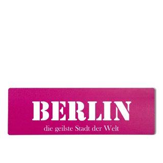 Berlin Dekoschild Türschild pink zum kleben