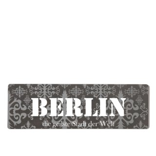 Berlin Dekoschild Türschild lila zum kleben