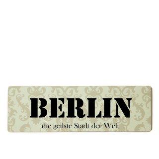 Berlin Dekoschild Türschild beige zum kleben
